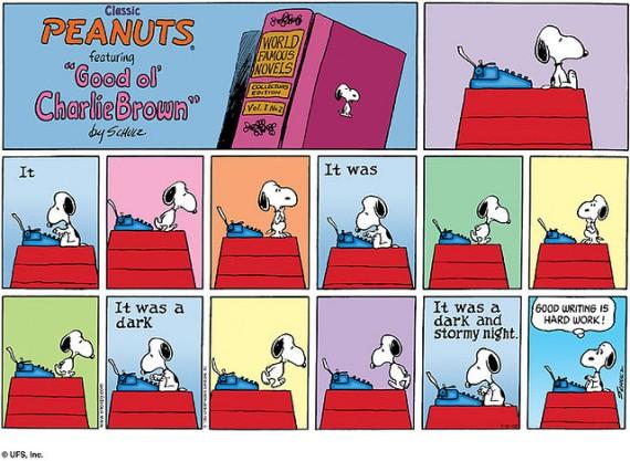 靈感,不是說來就來(image credit: Snoopy/UFS)